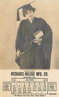 C-1910 Advertising Woman Graduate Richard  Wilcox RPPC real photo postcard 5109