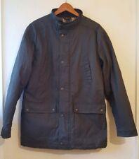 Aldon Mens Jacket Size Small Medium Green 100% Cotton Barber Style