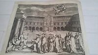 Oxford University Almanac Vertue Oxfordshire Print ART PROOF Engraving Etching