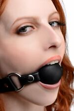 Interchangeable Silicone Ball Gag Set Bondage Cosplay Strict Faux Leather Mask !