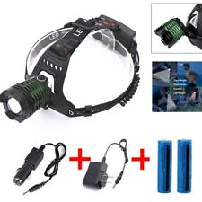 Zoomable Headlamp 30000Lumens T6 LED Headlight Flashlight+ Charger&18650 Battery