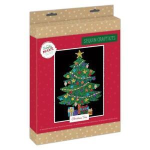 Docrafts Simply Make Christmas Sequin Art - Christmas Tree DSM 105158