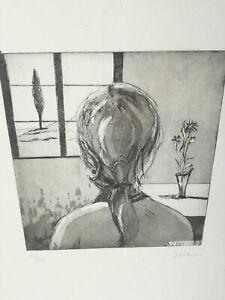 Lucia Santini (Montale, Pistoia) Acquaforte Signé Et Numéroté 15/30 Portrait