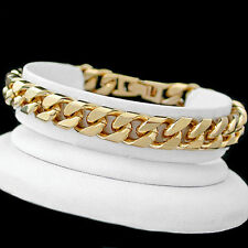 Chain Yellow Gold Filled Bracelets without Stone for Men