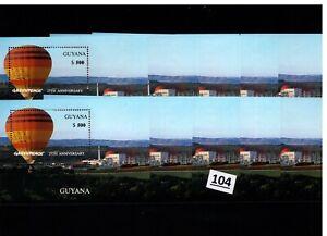 // 10X GUYANA - MNH - AVIATION - AIR BALLOONS - GREENPEACE - 1996