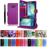 Premium Leather Flip Book Wallet Case Cover For Samsung Galaxy Core Prime G360F
