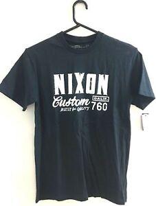 Men's Nixon Build Navy Skate T-Shirt / Tee. Size Small. NWT, RRP $49.99.