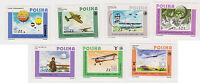 (T6-35) 1984 Poland set of7 Aviation
