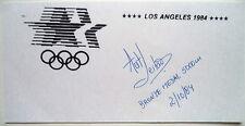 Antonio comensales 1984 olímpico 5,000 M bronzeautograph