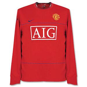 New Nike Vintage MANCHESTER UNITED FOOTBALL Club Training Sweatshirt Red XL