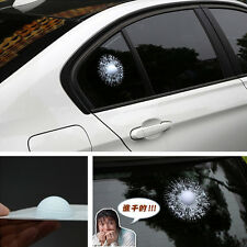 Car White Golf Ball Hit Glass Window Crack Sticker Body Adhesive Decal For BMW