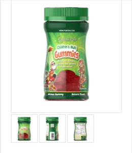 Puritan's Pride Children's Multi Gummies Multiple Vit. & Mineral Supplement 60 G