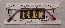 Vintage Elan 9158 Brown Demi 45/19 P3 Rounder Metal Eyeglass Frame NOS #203