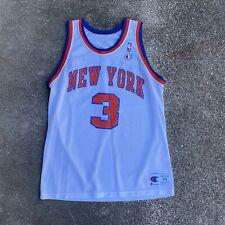 Vintage 90s Champion Usa Made Ny Knicks Starks #3 Jersey Size 44