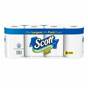 Scott Rapid-Dissolving Toilet Paper, 8 Rolls FREE SHIPPING