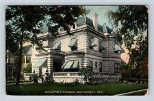Montgomery AL, Governors Mansion, Vintage Alabama c1917 Postcard X73