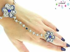 Newl 925 Sterling Silver Hand Chain Slave Boho Bracelet Ring Turkish Jewelry B55
