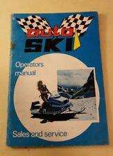 Auto Ski snowmobile Owner's Manual original