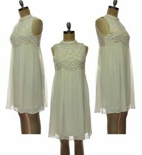 Patternless Empire line Mini Regular Size Dresses for Women