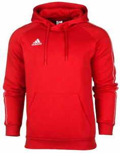 Adidas Men's Jumper Hoodie Sweatshirts Red Cotton Fleece Sport S M L Warm CV3337