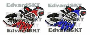 NEW MOTORBIKE/MOTORCYCLE SUZUKI GSXR MOTOGP RACING LEATHER GLOVES ALL SIZE