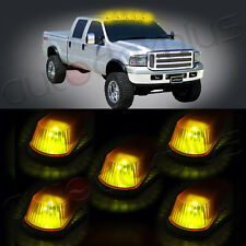 5x Cab Marker Running Light Amber Cover + Base Housing +Free LED Bulbs For Ford