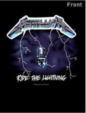 Metallica camiseta hombre negro Ride Lightning doble print Licencia Oficial