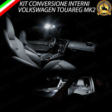 KIT LED INTERNI VW TOUAREG MK2 II CONVERSIONE COMPLETA 6000K CANBUS NO ERRORE