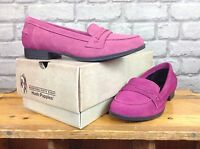HUSH PUPPIES LADIES UK 3,4 PINK SUEDE CATHCART SLIP ONS SHOES LOAFERS RRP £60