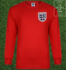 England 1966 World Cup Final Shirt Mens - Official Score Draw - No 6 Bobby Moore