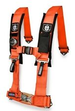 """Pro Armor Seat Belt Safety Harness 5 Point 3"""" Padded RZR Rhino Can Am Orange"""