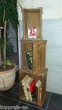 Regal Kommode Holzregal Bücherregal Schrank Design Shabby Holz Vintage Holzkiste