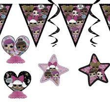 LOL Surprise Decoration Kit Banner Bunting Swirls Birthday Party Girls Tableware