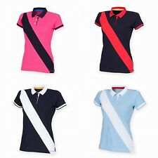 Cotton Collared Short Sleeve Striped Tops & Shirts for Women