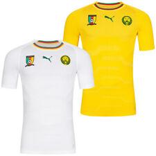 Kamerun PUMA Evoknit Auswärt Herren Fußball Sport Fanshop Trikot weiß gelb neu