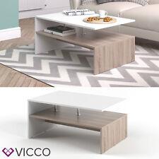 VICCO Couchtisch AMATO in Weiß / Eiche Sonoma - Wohnzimmer Sofatisch Kaffeetisch