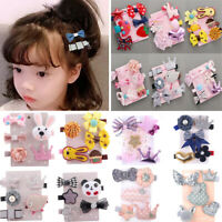 5/6Pc Hairpin Baby Girl Hair Clip Bow Flower Mini Barrettes Star For Kids Infant