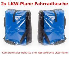 2x LKW-Plane Fahrradtasche Fahrrad Tasche Gepäckträgertasche Wasserdicht Blau