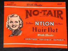 Mint in Package Vintage 1947 NO-TAIR DuPont HAIR NET N.B. Cohen Co. Scranton PA
