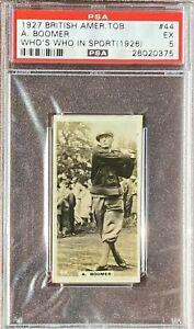 AUBREY BOOMER 1927 BAT Who's Who In Sports (1926) #44 PSA 5 EX Golf