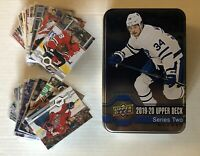 2019-20 Upper Deck Series 2 Hockey Tin With 100 Card Lot Ovechkin Crosby Kane+