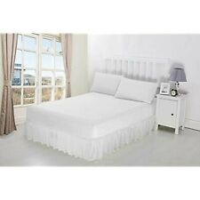 100% PolyCotton Extra Deep Fitted Valance Sheets Bed Sheet In Double Size
