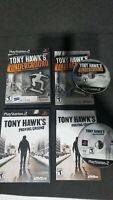 PS2 2x Game Lot - Tony Hawk's Underground & Proving Ground - CIB Tested