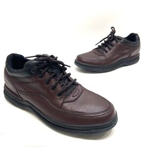 Rockport Mens Brown Leather Casual Comfort Lace Up Shoes Size 9.5