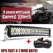 "9D Tri-Row CREE 22inch 1880W Curved LED Light Bar Spot Flood Offroad VS 20""23""24"