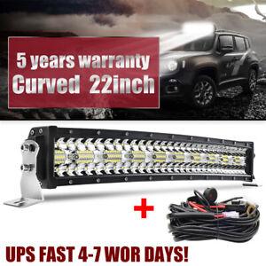 "9D Tri-Row CREE 22inch 1880W Curved LED Light Bar Spot Flood Offroad VS 20""23""24"