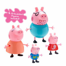 Peppa Pig Family Figures - Little Characters toys - Mummy, Daddy, Peppa & George