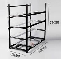 19 GPU Miner Frame Aluminum Stackable Open Air Mining Rig Case ETH BTC Ethereum