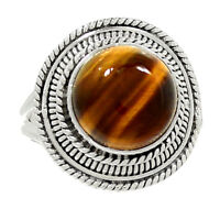 Tiger Eye 925 Sterling Silver Ring Jewelry s.6.5 AR4393
