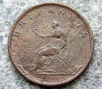GREAT BRITAIN GEORGE III 1806 HALF 1/2 PENNY HALFPENNY, corroded